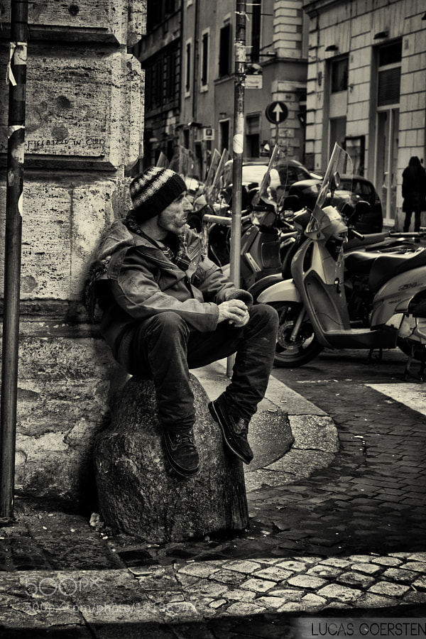Photograph a man on the street by Lucas Coersten on 500px