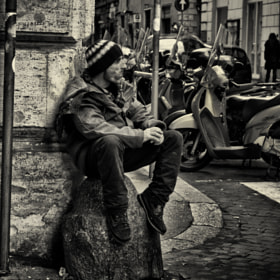 a man on the street by Lucas Coersten (LucasCoersten)) on 500px.com