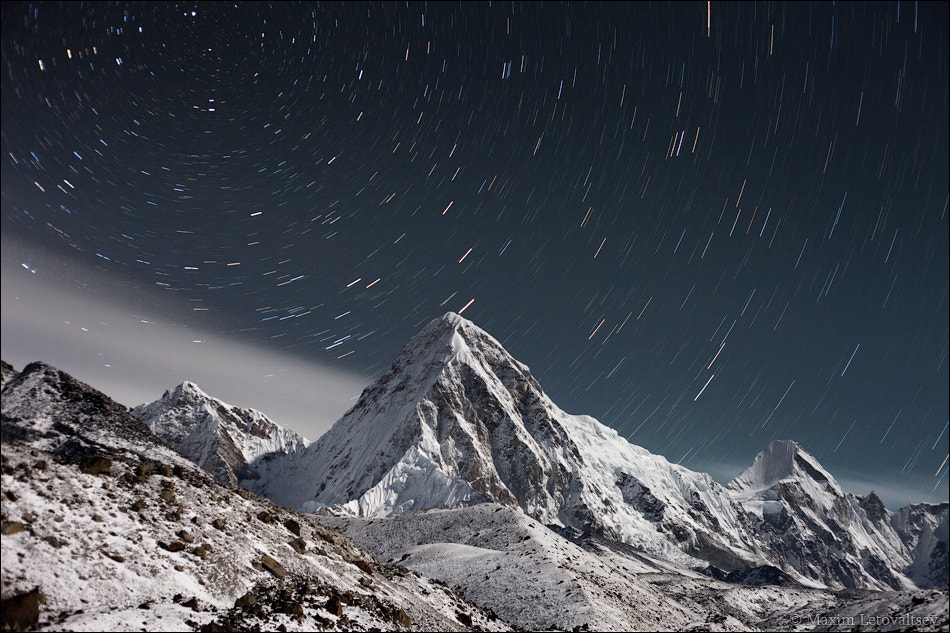 Photograph Pumori at night by Maxim Letovaltsev on 500px