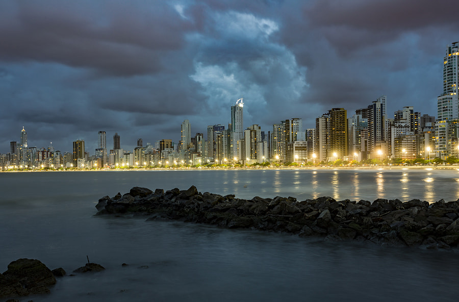 City at the night.