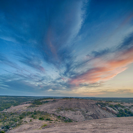 sunset over enchanted rock