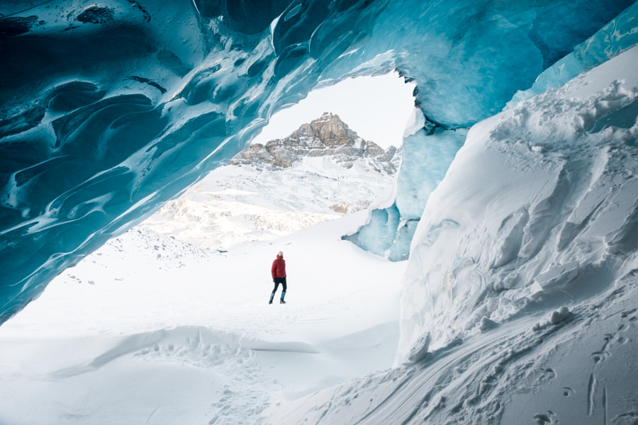 Standing in awe of Athabasca Glacier by Megan McLellan on 500px.com