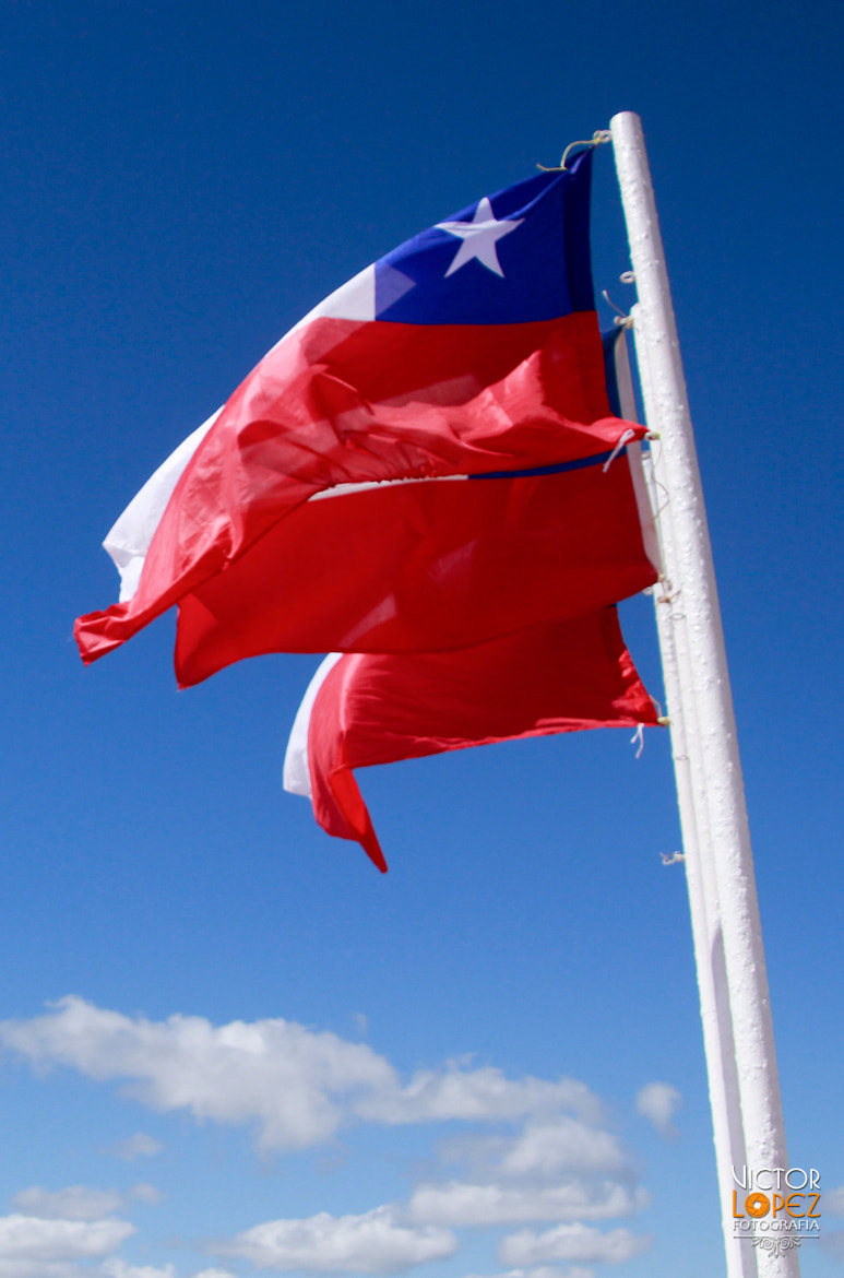 Photograph Viva Chile / Flag by Victor Lopez on 500px