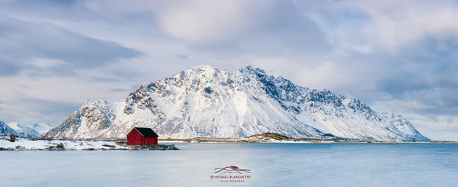 Red Shack on Fjord - Panorama by Michael Blanchette on 500px.com
