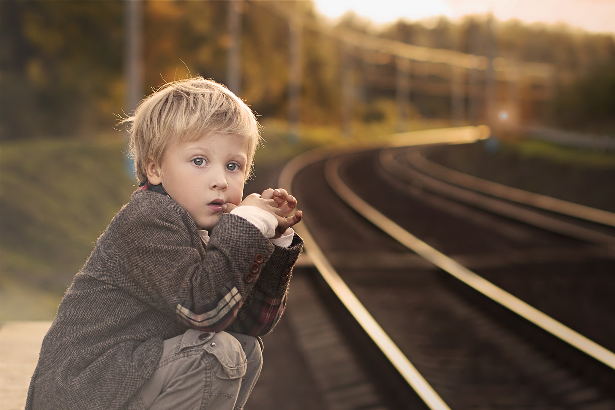 Photograph Waiting for a train by Elena Shumilova on 500px
