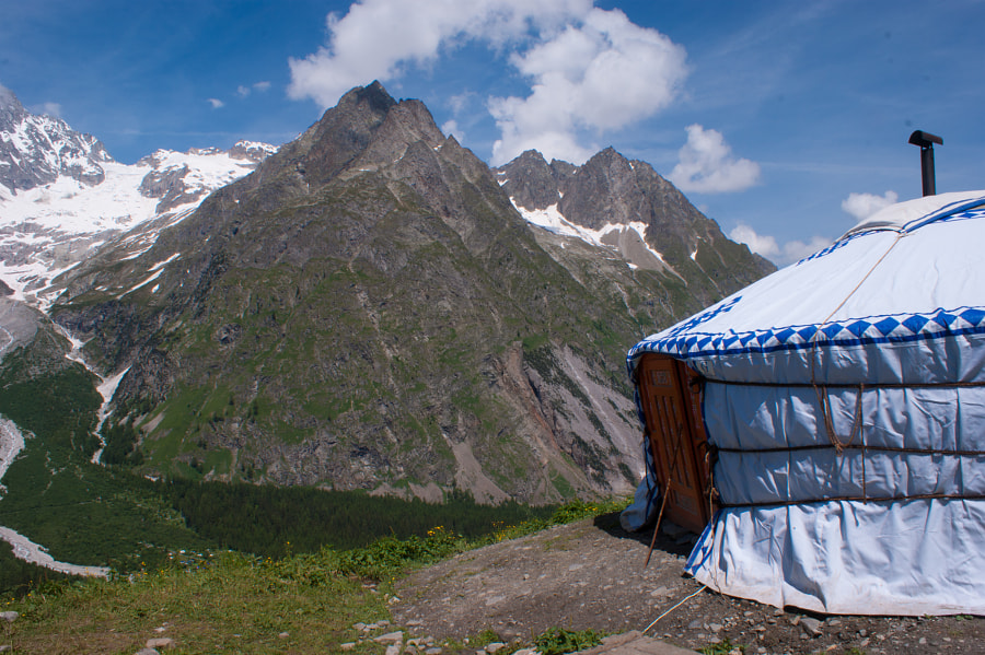 yurt,val ferret,valais,swiss by bertrand louis on 500px.com