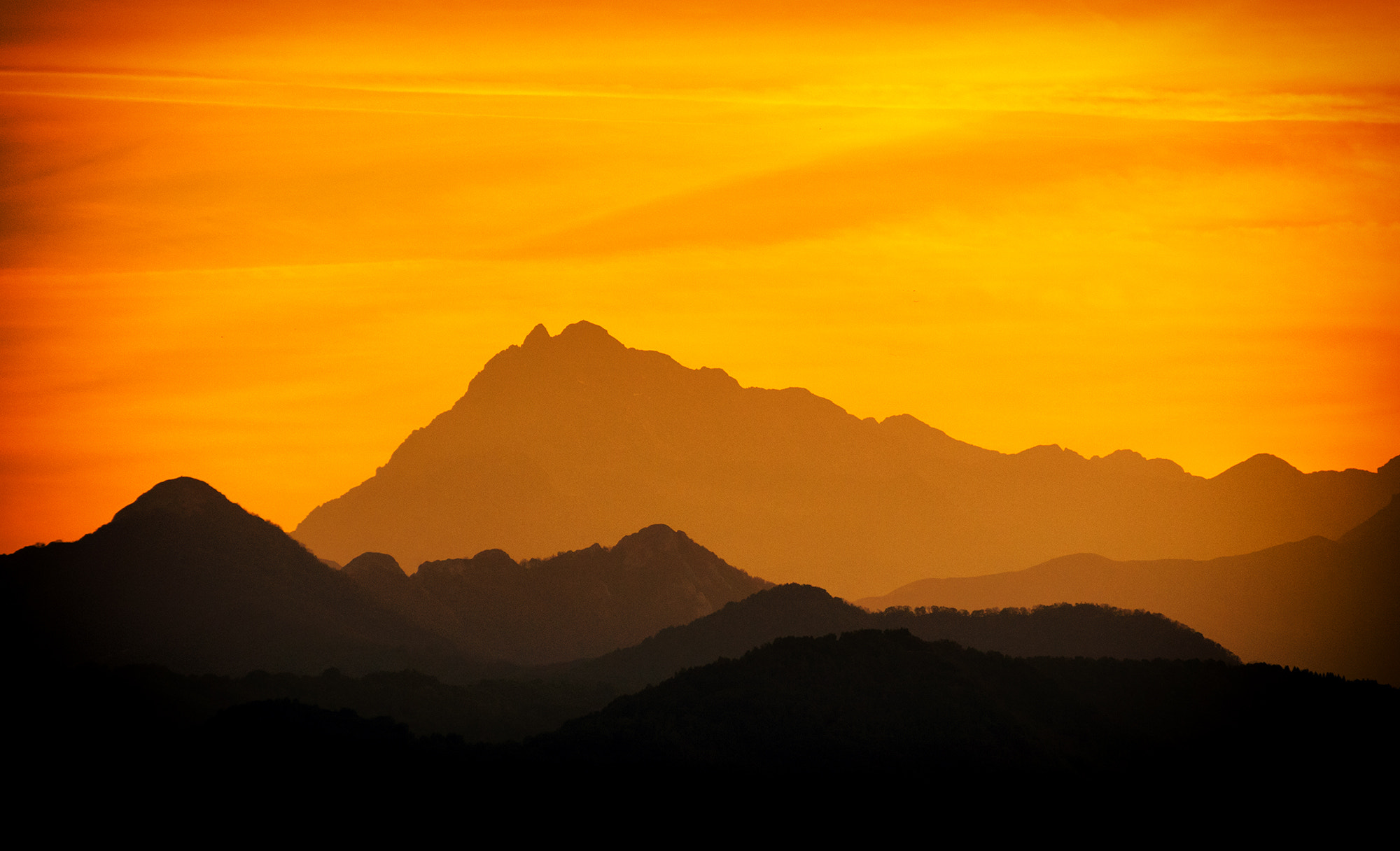 Photograph Sunset and Mountains by Peste Razor on 500px