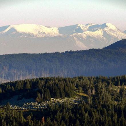 Rila Mountain seen from Vitosha Mountain, Bulgaria