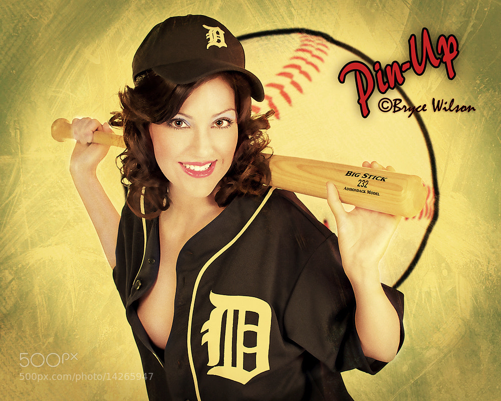 Photograph Retro Baseball Pin Up by Foto Fix on 500px