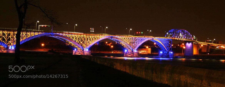 Photograph Peace Bridge at Night by Scott Dodgson on 500px