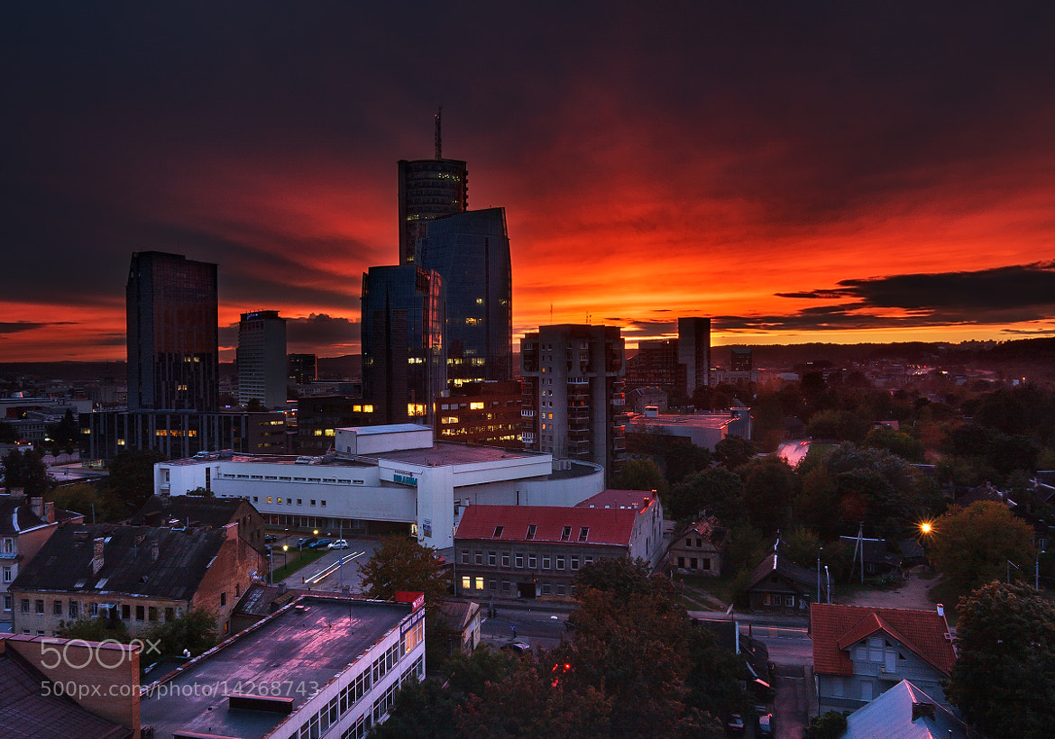 Photograph Vilnius city in the evening by Lukas Jonaitis on 500px
