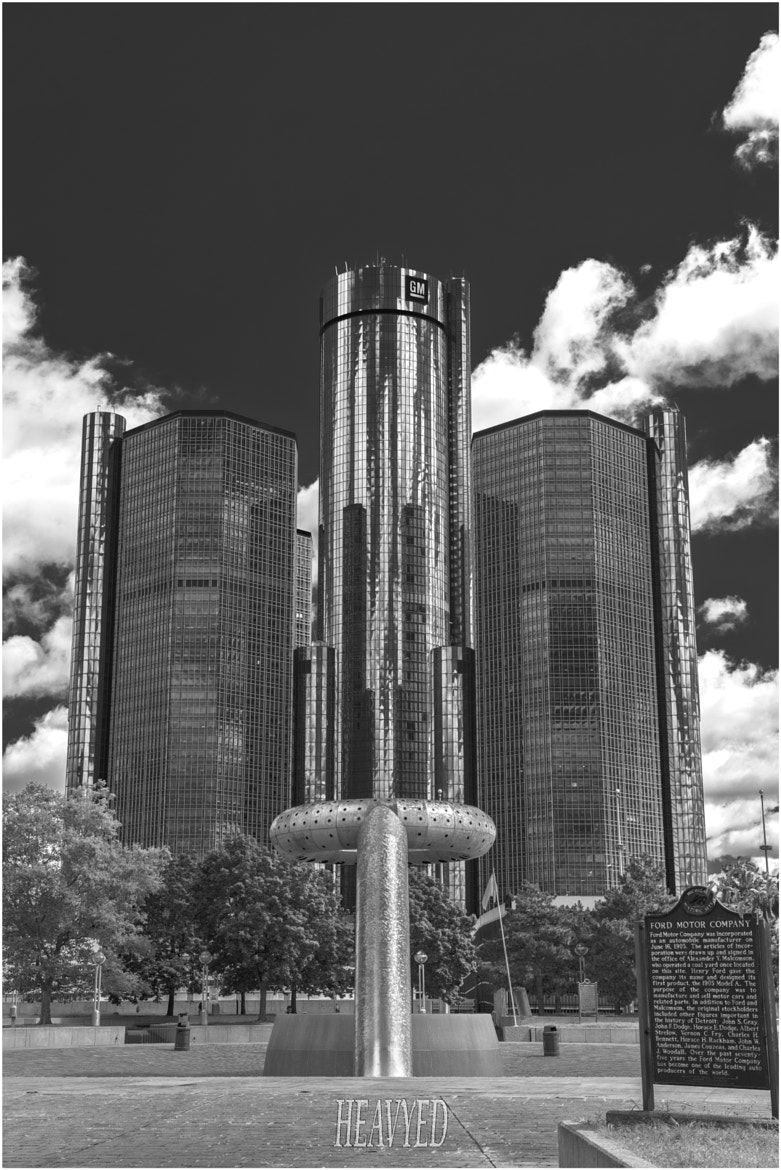 Photograph Detroits Ren Cen. by Ed Hall on 500px
