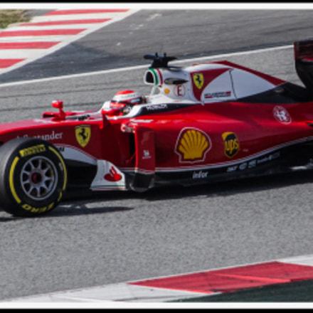 Ferrari test 2016 barcelona