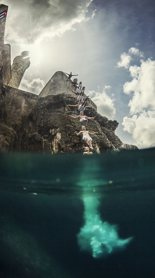 Orlando Duque Jumps Off Cliff in La Habana, by Red Bull Photography on 500px.com