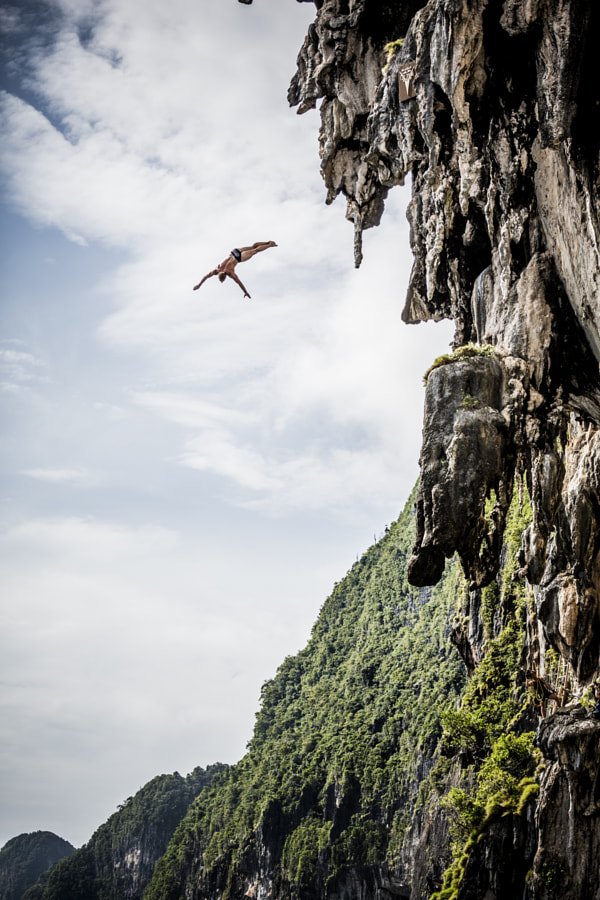 Alain Kohl cliff diving in Krabi, Thailand. by Red Bull Photography on 500px.com