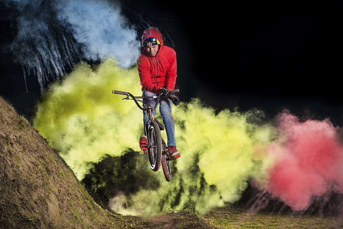 Dawid Godziek performs a barspin in Suszec, Poland. by Red Bull Photography on 500px