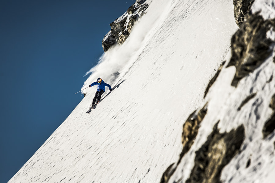 Nadine Wallner skiing on Soelden Glacier in Austria. by Red Bull Photography on 500px.com