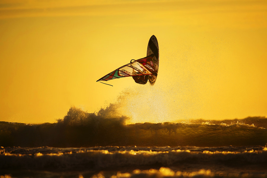 Lena Erdil windsurfing in Capetown, South Africa. by Red Bull Photography on 500px.com