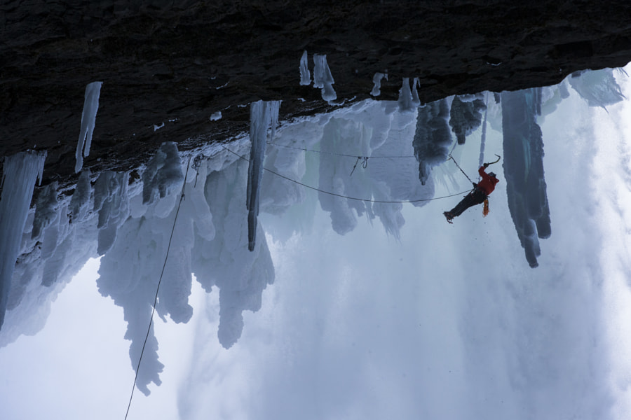 Will Gadd Climbs Up the Frozen Helmcken Falls in Canada. by Red Bull Photography on 500px.com