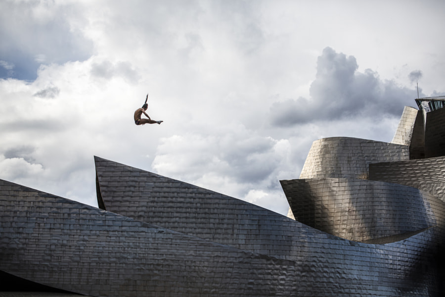 Orlando Duque Jumps Off La Salves Bridge During Red Bull Cliff Diving World Series in Bilbao, Spain. by Red Bull Photography on 500px.com