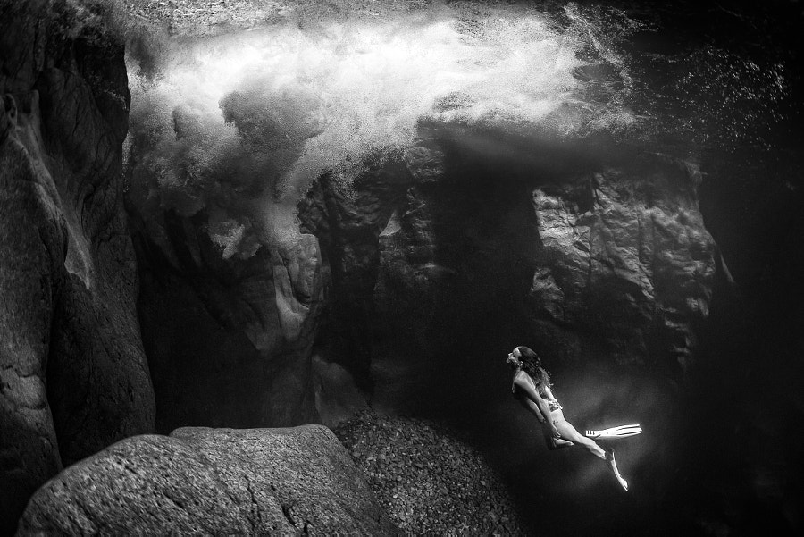 Marie France Roy diving at Vancouver Island. by Red Bull Photography on 500px.com