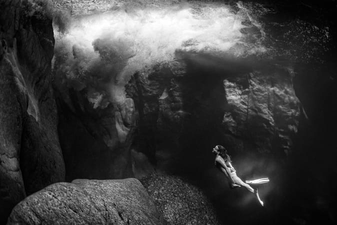 Marie France Roy diving at Vancouver Island. by Klassy Goldberg on 500px