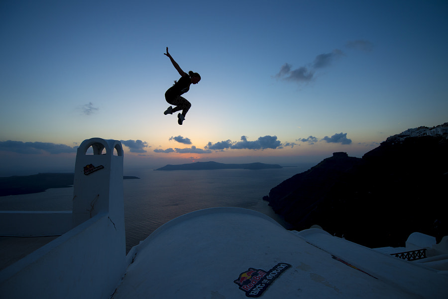 Alexsandra Schevchenko performing at Red Bull Art of Motion in Santorini, Greece. by Red Bull Photography on 500px.com