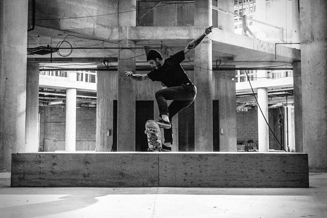 Nate Lacoste doing a skateboard trick at Red Bull's Last Resort in Halifax, Canada. by Red Bull Photography on 500px