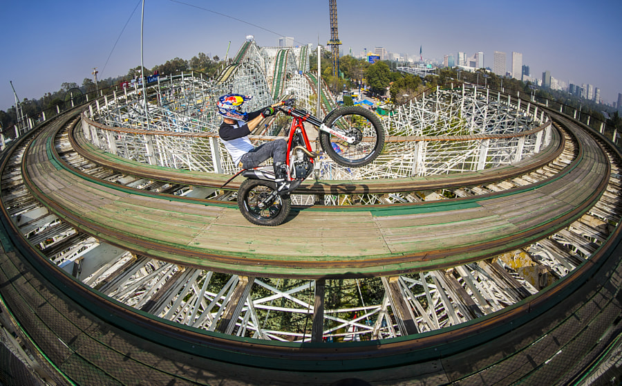 Julien Dupont Performing During the Red Bull Roller Coaster at La Feria de Chapultepec in Mexico... by Red Bull Photography on 500px.com