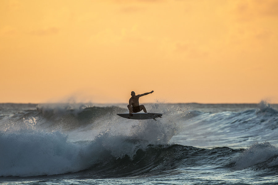 Nat Young surfing at North Shore in Hawaii. by Red Bull Photography on 500px.com