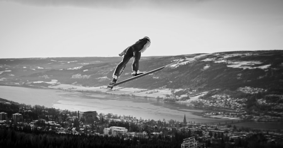 Sarah Hendrickson ski jumping in Lillehammer, Norway. by Red Bull Photography on 500px.com