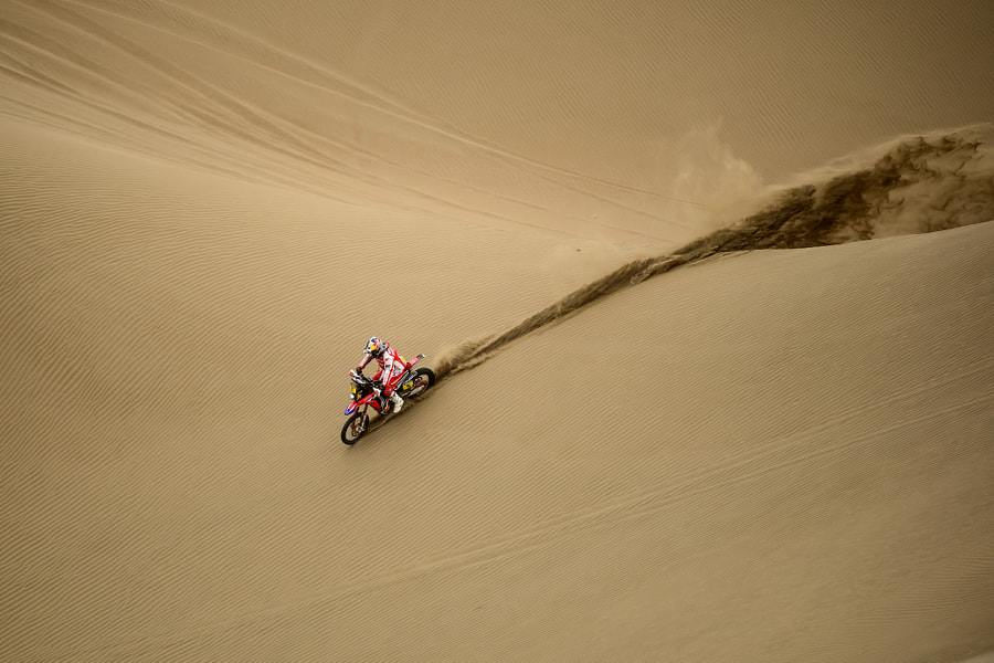 Helder Rodrigues racing in Calama, Chile. by Red Bull Photography on 500px.com