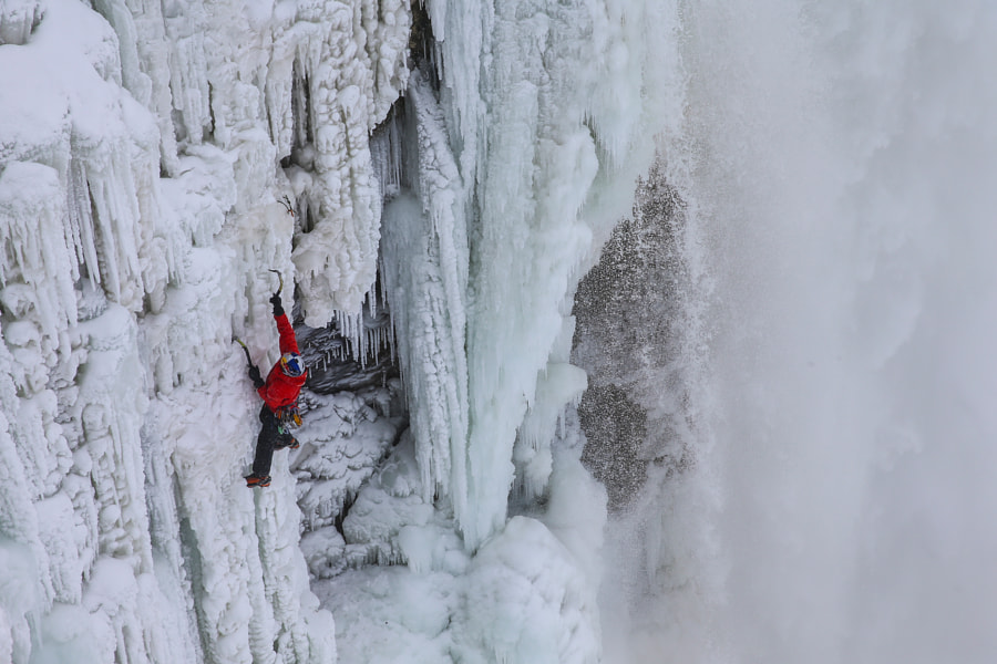 Will Gadd Climbs Up The Frozen Niagara Falls in the USA. by Red Bull Photography on 500px.com