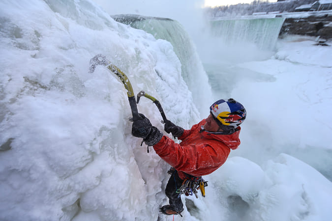 Will Gadd Climbs Up The Frozen Niagara Falls in the USA. by Red Bull Photography on 500px