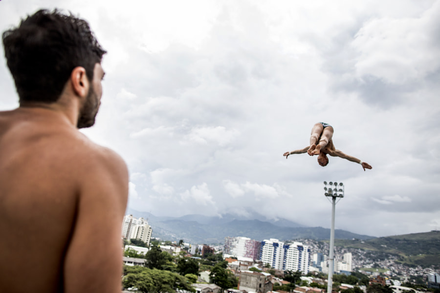 Kris Kolanus diving at Red Bull Cliff Diving World Series in Cali, Colombia. by Red Bull Photography on 500px.com