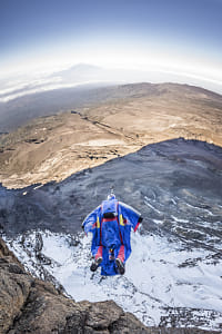 Valery Rozov Performs at the Kilimanjaro BASE jump in Tanzania. by Red Bull Photography on 500px