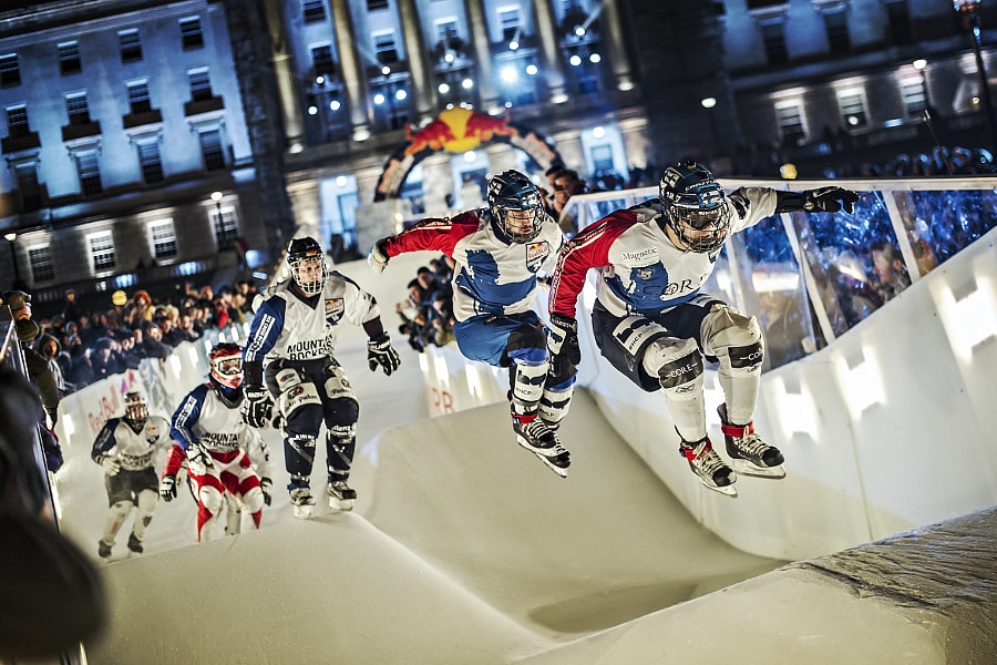 Team Finland and The Mountain Rockers compete in Ice Cross Downhill during Red Bull Crashed Ice... by Red Bull Photography on 500px.com
