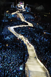 Team Prestige Worldwide and Team Ice Crew compete in Ice Cross Downhill during Red Bull Crashed... by Red Bull Photography on 500px