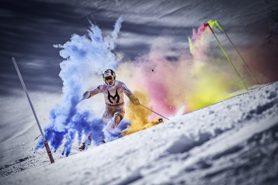 Marcel Hirscher performing at Reiteralm, Austria. by Red Bull Photography on 500px.com