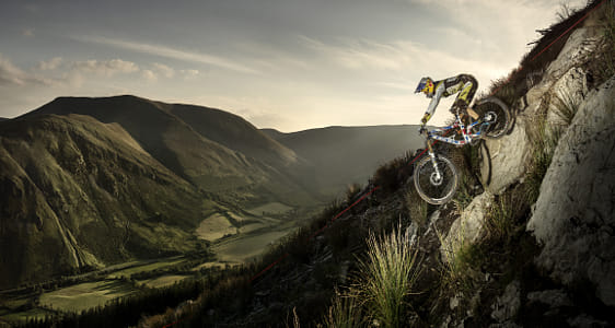Gee Atherton competing at Red Bull Hard Line in Dinas Mawddwy, United Kingdom. by Red Bull Photography on 500px