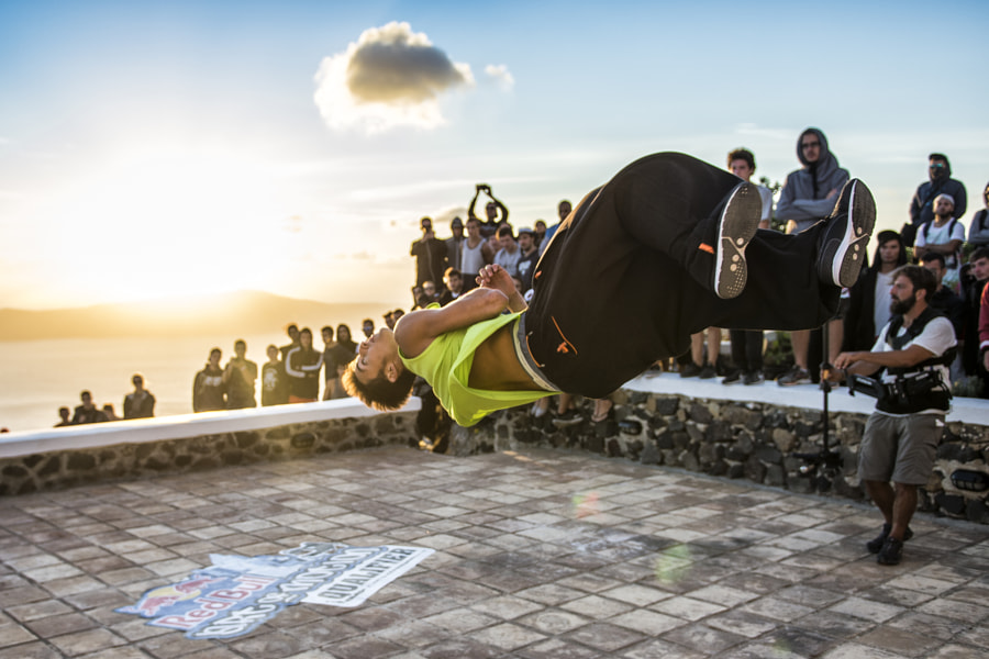 Competitor at Red Bull Art of Motion on Santorini Island, Greece. by Red Bull Photography on 500px.com