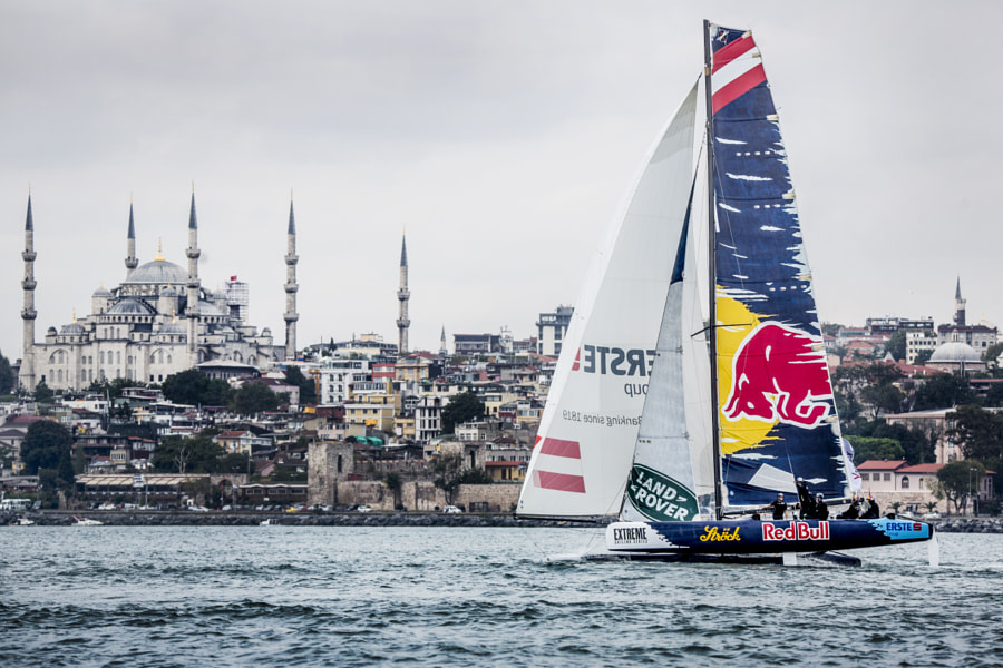 The Red Bull Sailing Team of Ausrtia competiting in the Extreme Sailing Series in Istanbul, Turkey. by Red Bull Photography on 500px.com