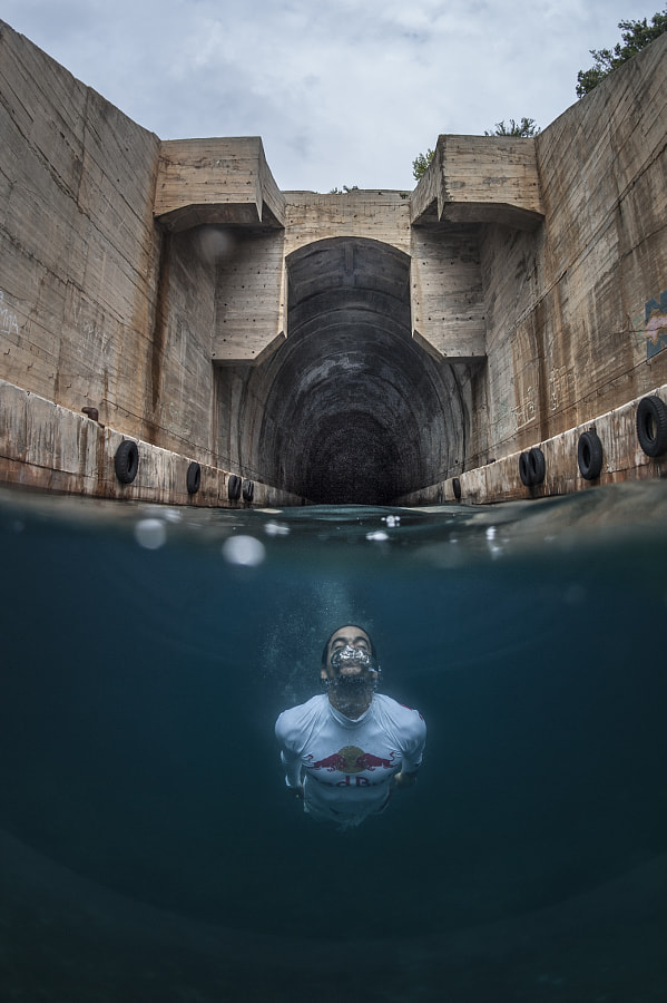 Orlando Duque Dives From Submarine Garage on the Island of Vis in Croatia. by Red Bull Photography on 500px.com