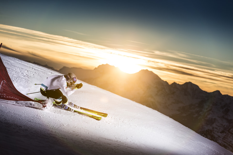 Filip Flisar Skis on Stelvio Pass Glacier, Italy. by Red Bull Photography on 500px.com