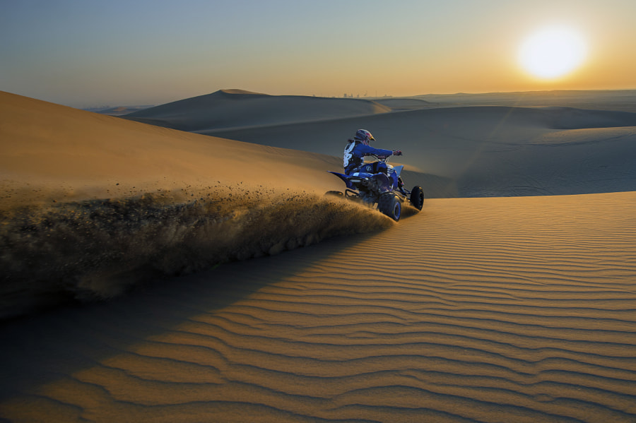 Mohammed Abu Issa Performs in Sealine Desert, Qatar by Red Bull Photography on 500px.com