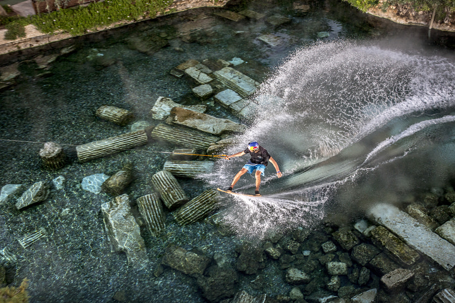 Brian Grubb at Red Bull Wakeskate in Pamukkale, Turkey by Red Bull Photography on 500px.com