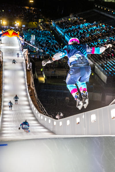 Team Steal 17 compete in Ice Cross Downhill at Red Bull Crashed Ice in Munich, Germany. by Kelly Schwarze on 500px