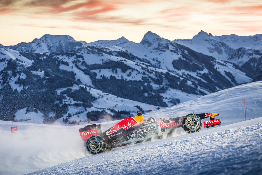 Max Verstappen Performing During the F1 Showrun at the Hahnenkamm in Kitzbuhel by Red Bull Photography on 500px.com