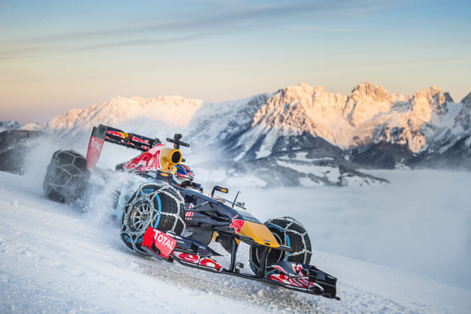 Max Verstappen Performing During the F1 Showrun at the Hahnenkamm in Kitzbuhel by Red Bull Photography on 500px