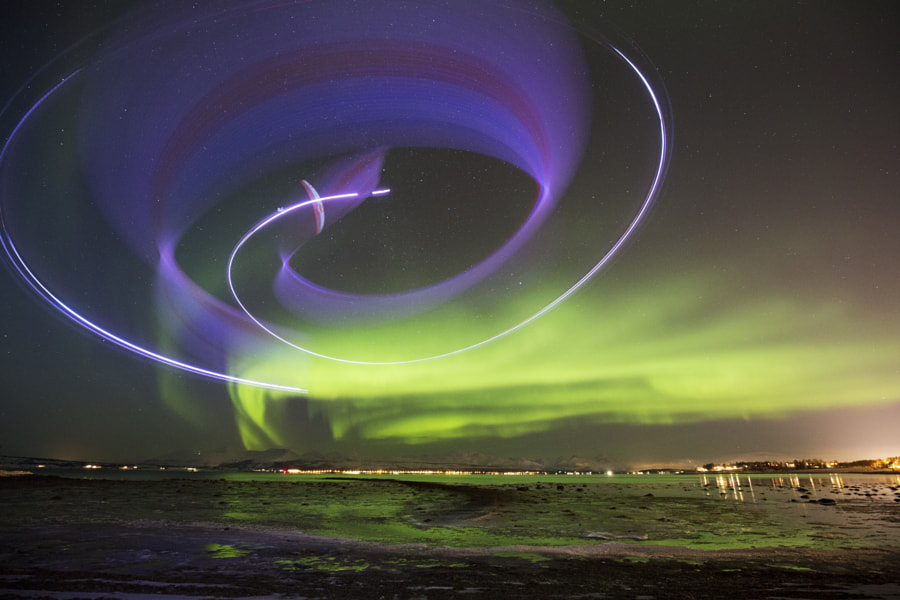 Horacio Llorens Performing During the Aurora Borealis in Tromso, Norway. by Red Bull Photography on 500px.com